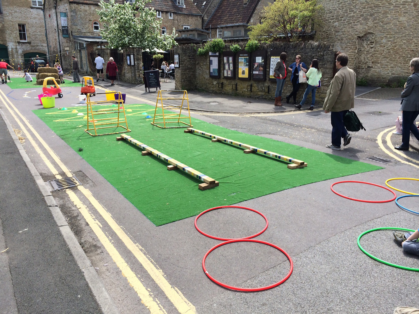 A proposal to build an obstacle course in the centre of Frome.