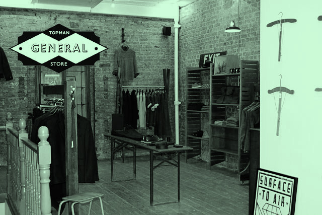 ...And now this. The Top Man General Store is a curated collection of Topman clothes in Shoreditch.