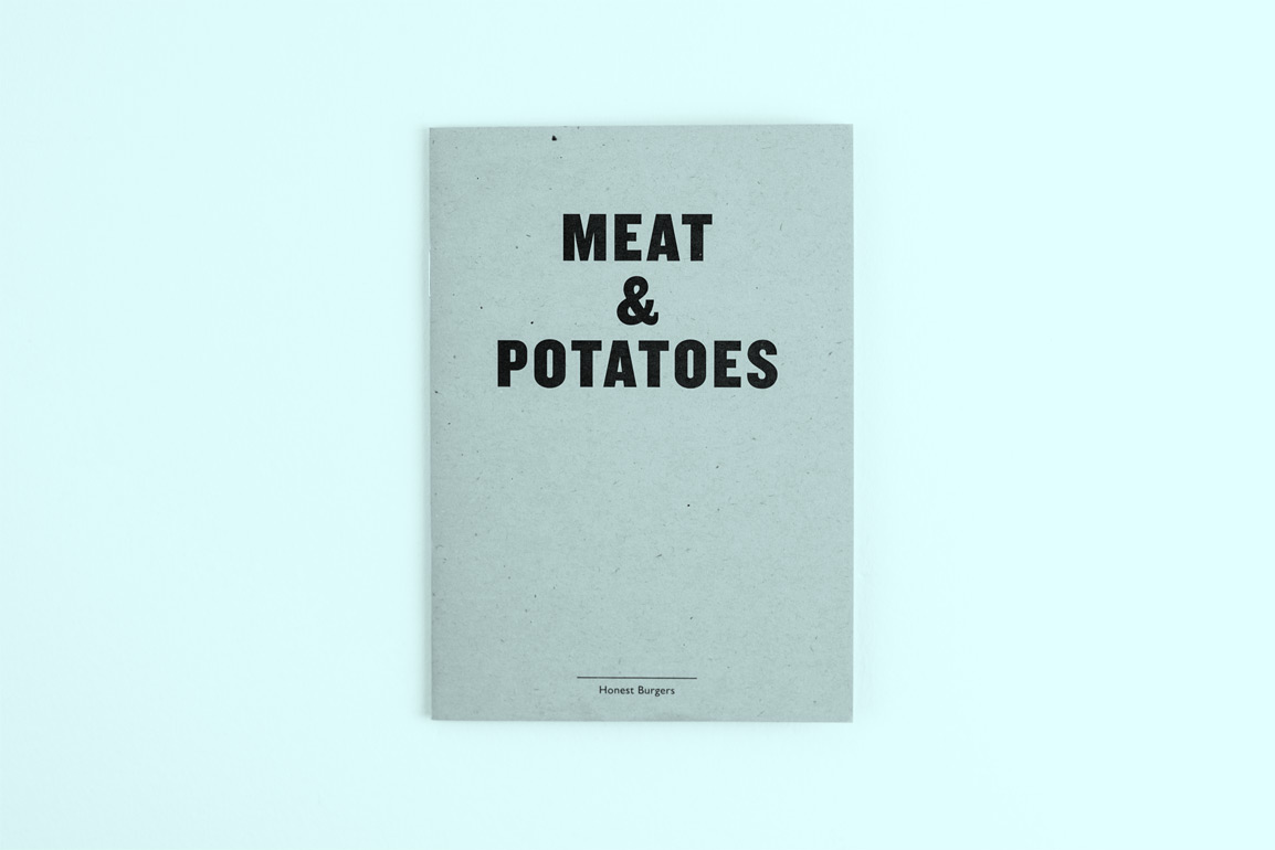 Meat and Potatoes cover for Honest Burgers.